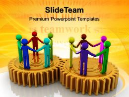 Gears Image Powerpoint Templates Cooperating Team Teamwork Ppt Slide Designs