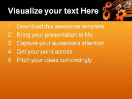 Gears Industrial PowerPoint Template 0610  Presentation Themes and Graphics Slide02