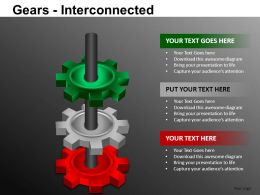 Gears Interconnected Powerpoint Presentation Slides DB