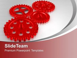 Gears Interconnected Teamwork Concept PowerPoint Templates PPT Themes And Graphics 0213