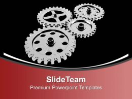 Gears Mechanism Industrial PowerPoint Templates PPT Themes And Graphics 0213
