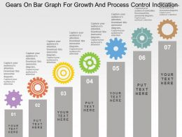 Gears On Bar Graph For Growth And Process Control Indication Flat Powerpoint Design