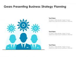 Gears Presenting Business Strategy Planning