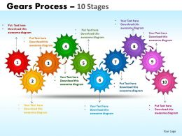 gears process 10 stages style 1 powerpoint slides and ppt templates 0412