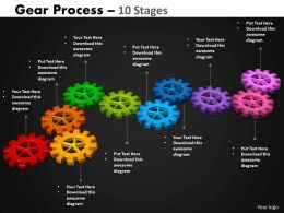 Gears Process 10 Stages Style 2 Powerpoint