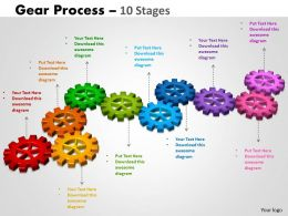 Gears Process 10 Stages Style 2 Powerpoint Slides And Ppt