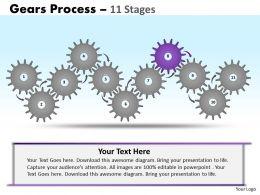 73733226 Style Variety 1 Gears 11 Piece Powerpoint Presentation Diagram Infographic Slide