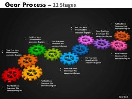 Gears Process 11 Stages Style 2 Powerpoint Slides And Ppt