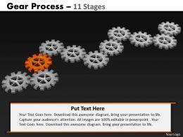67631019 Style Variety 1 Gears 11 Piece Powerpoint Presentation Diagram Infographic Slide
