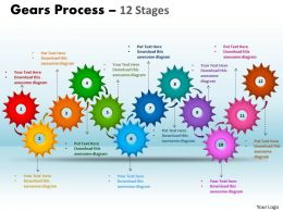 Gears Process 12 Stages Style 1 Powerpoint Slides And Ppt