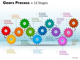 gears process 12 stages style 1 powerpoint slides and ppt templates 0412