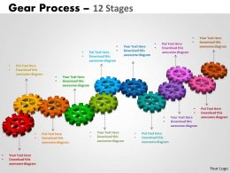 Gears Process 12 Stages Style 2 Powerpoint Slides And Ppt Templates