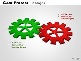 Gears Process 2 Stages Style 2 Powerpoint Slides And Ppt Templates 0412