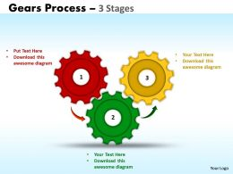 Gears Process 3 Stages Style 1 Powerpoint Slides And Ppt Templates