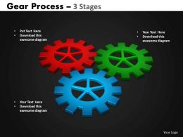Gears Process 3 Stages Style 2 Powerpoint Slides And Ppt