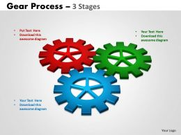 Gears Process 3 Stages Style 2 Powerpoint Slides And Ppt Templates 0412
