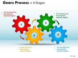 Gears Process 4 Stages Style 1 Powerpoint Slides And Ppt Templates 0412