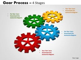 Gears Process 4 Stages Style 2 Powerpoint Slides And Ppt Templates 0412