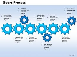 gears process 6 stages powerpoint slides and ppt templates 0412