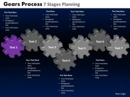 Gears Process 7 Stages Planning Powerpoint Slides And Ppt Templates DB