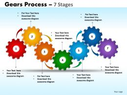 Gears Process 7 Stages Style 1 Powerpoint Slides And Ppt Templates 0412