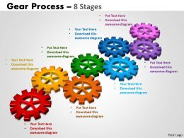 Gears Process 8 Stages Style 2 Powerpoint Slides And Ppt