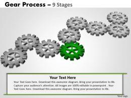32870570 Style Variety 1 Gears 9 Piece Powerpoint Presentation Diagram Infographic Slide