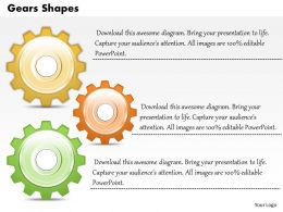 Gears Shapes Powerpoint Template Slide