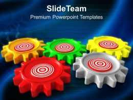 Gears Target Business Mechanism Powerpoint Templates Ppt Themes And Graphics 0313