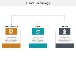 Gears Technology Ppt Powerpoint Presentation File Designs Cpb