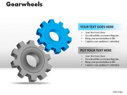 Gearwheels Powerpoint Presentation Slides