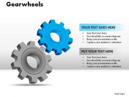 Gearwheels Powerpoint Presentation Slides