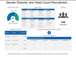 Gender Diversity And Head Count Recruitment Dashboard