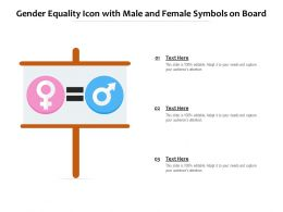 Gender Equality Icon With Male And Female Symbols On Board