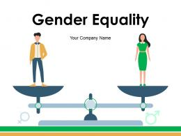 Gender Equality Symbols Concept Teaching Board Scale
