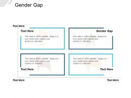 Gender Gap Ppt Powerpoint Presentation Layouts Graphics Cpb