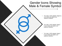 Gender Icons Showing Male And Female Symbol