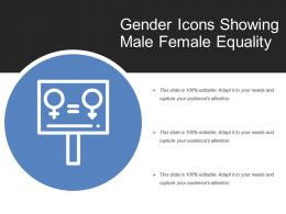Gender Icons Showing Male Female Equality