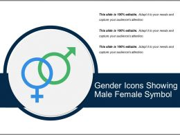 Gender Icons Showing Male Female Symbol