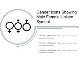 Gender Icons Showing Male Female Unisex Symbol
