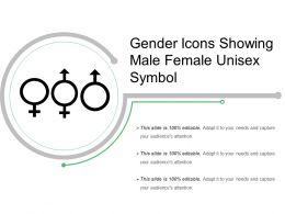 Gender Icons Showing Male Female Unisex Symbol