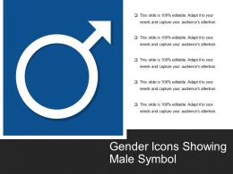 Gender Icons Showing Male Symbol
