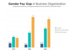 Gender Pay Gap In Business Organization