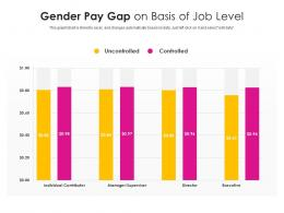 Gender Pay Gap On Basis Of Job Level