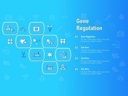 Gene Regulation Ppt Powerpoint Presentation Infographics Examples