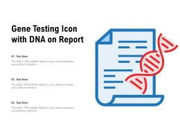 Gene Testing Icon With DNA On Report