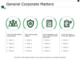 General Corporate Matters Powerpoint Graphics