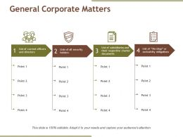 General Corporate Matters Presentation Background Images