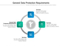 General Data Protection Requirements Ppt Powerpoint Presentation Infographics Layout Cpb