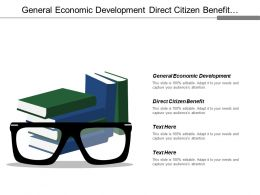 General Economic Development Direct Citizen Benefit Service Equipment